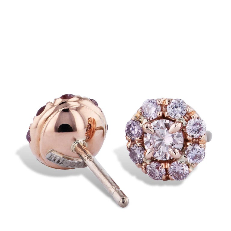 4e01a33dad0 H & H 0.60 Carat Pink Diamond Stud Earrings