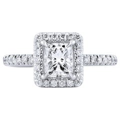 GIA Certified 0.92 Carat Radiant Cut Diamond Engagement Ring Handmade by H&H