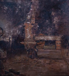 H. L. Robinson (fl. 1905-1930) - Early 20th Century Oil, Old Smithy