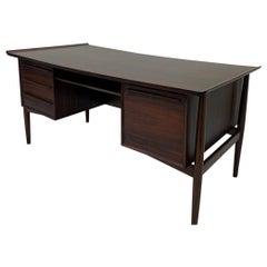 Mid Century H P Hansen Danish Modern Rosewood Desk Made in Denmark, circa 1960