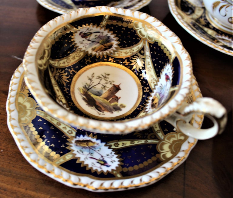 H & R Daniel Hand Pained Porcelain Tea or Coffee Set For Sale 5