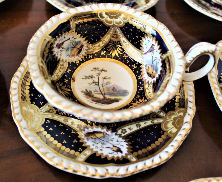 H & R Daniel Hand Pained Porcelain Tea or Coffee Set For Sale 6