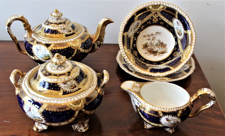 H & R Daniel Hand Pained Porcelain Tea or Coffee Set For Sale 7