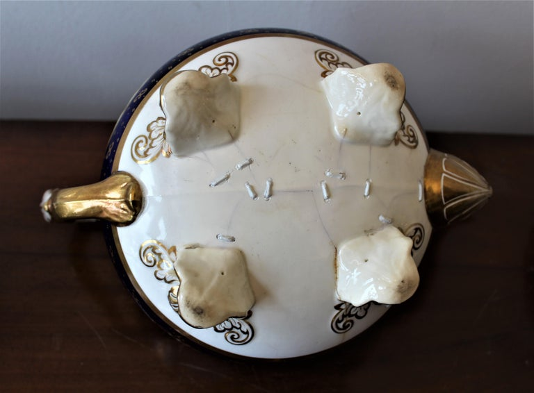 H & R Daniel Hand Pained Porcelain Tea or Coffee Set For Sale 10