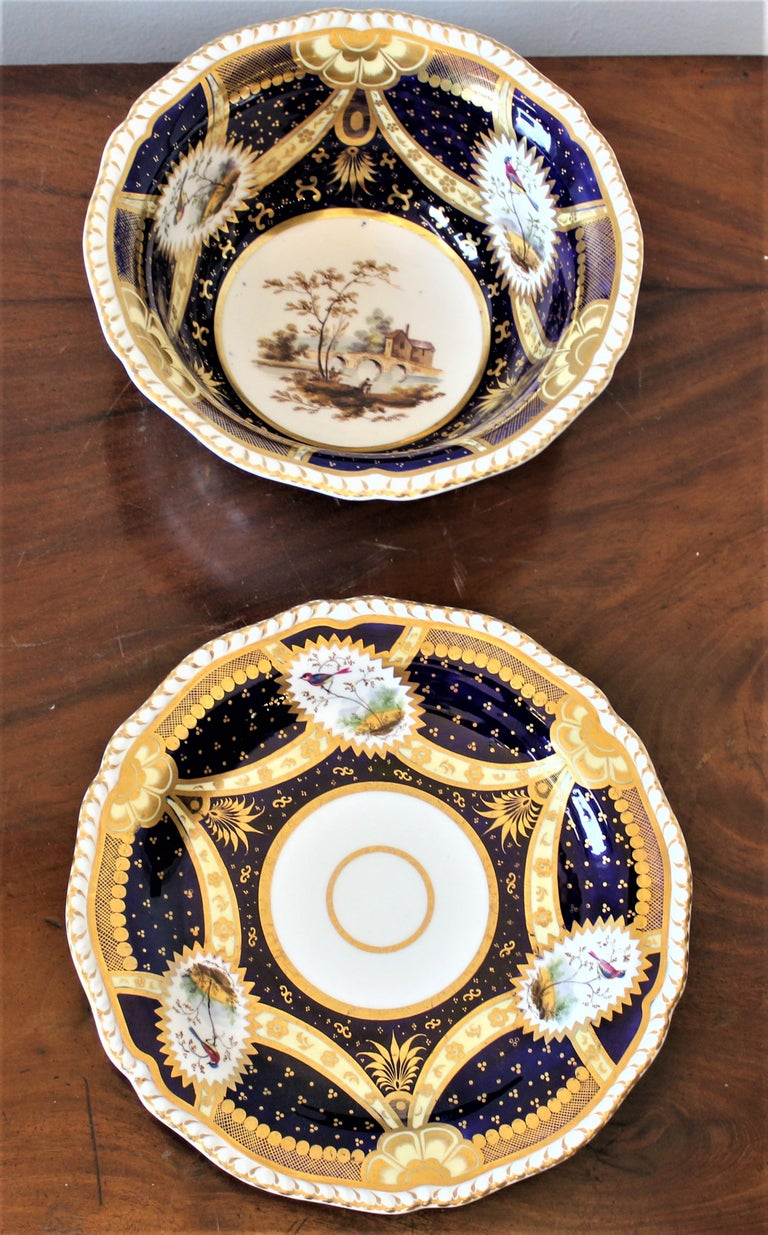 H & R Daniel Hand Pained Porcelain Tea or Coffee Set For Sale 12