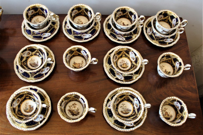 Hand-Painted H & R Daniel Hand Pained Porcelain Tea or Coffee Set For Sale