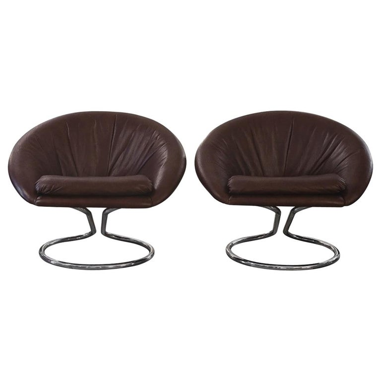 H SEDUTA, Vintage Pair of Armchairs by Giotto Stoppino, 1970s For Sale