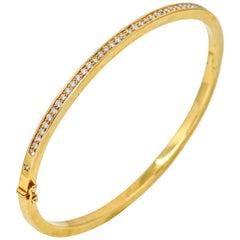 H. Stern 1.00 Carat 18 Karat Yellow Gold Diamond Bangle Bracelet