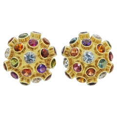 H. Stern, 18 Karat Gold, Semi Precious Stone Sputnik Earrings