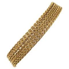 H. Stern 5 Chain Yellow Gold Bracelet