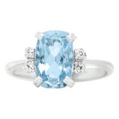 H. Stern Aquamarine and Diamond-Set Gold Ring
