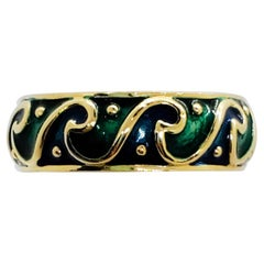 H. Stern Blue and Green Enamel Ring