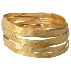 H. Stern Coiled Gold Bangle Bracelets