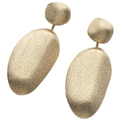 H. Stern Day Night Convertible Textured Golden Stones Drop Earrings Yellow Gold