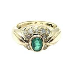 H. Stern Diamond Emerald Yellow Gold Ring