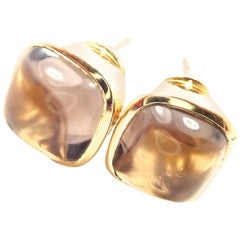 H. Stern Diamond Imperial Topaz Yellow Gold Earrings