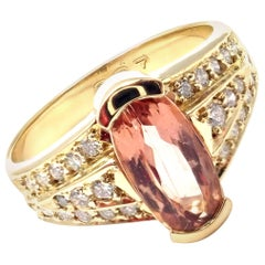 H. Stern Diamond Imperial Topaz Yellow Gold Ring