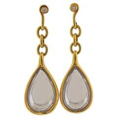H. Stern DVF Life Harmony Freedom Gold Diamond Crystal Earrings