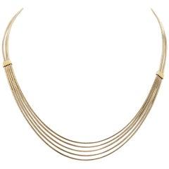 H. Stern Four Strand 18 Karat Yellow Gold Necklace