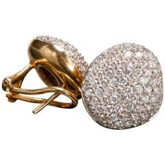 H. Stern Golden Stone Diamond Pave Earrings
