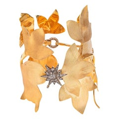 H. Stern Hera Brown Diamond 18 Karat Gold Cuff Bracelet