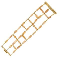 H Stern Imperial Topaz Diamond Gold Bracelet