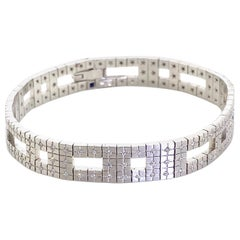 H Stern Metropolis Collection 18 Karat White Gold and Diamond Bracelet