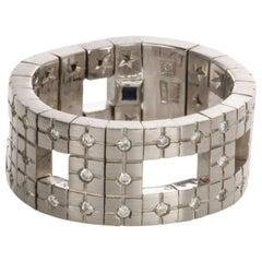 H Stern Metropolis Collection 18 Karat White Gold and Diamond Ring, Ring