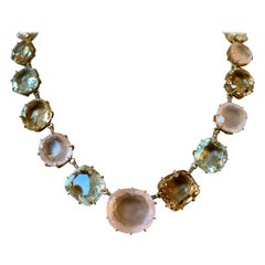 "H. Stern ""Moonlight Collection"" 18 Karat Gold Diamond Multicolored Gems Necklace"