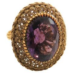 H Stern Oval Amethyst  Ring in 18 Karat Rose Gold