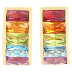 H. Stern Rainbow 18 Karat Yellow Gold Earrings
