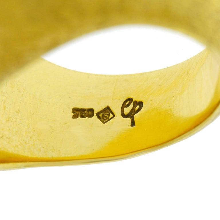 Women's or Men's H. Stern Rock Crystal Set Gold Ring For Sale
