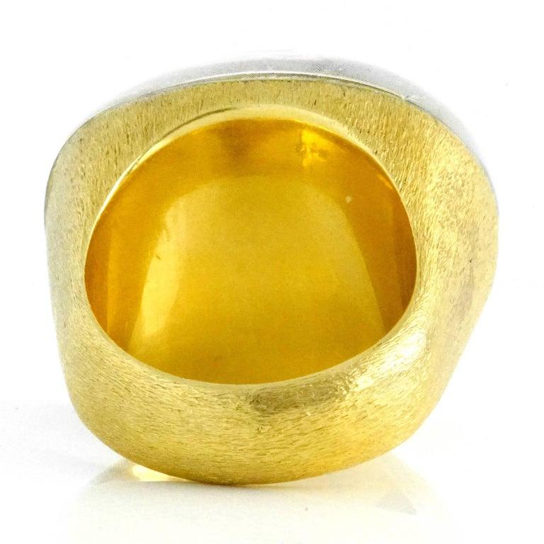 H. Stern Rock Crystal Set Gold Ring For Sale 2