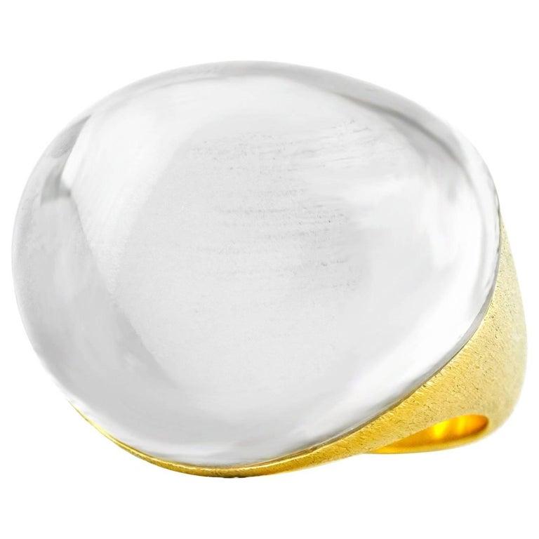 H. Stern Rock Crystal Set Gold Ring For Sale