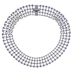 H. Stern Sapphire Gold Necklace