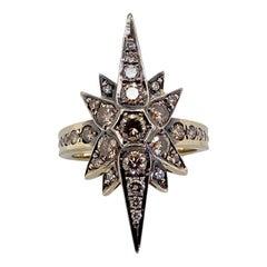 H Stern Stars 18 Karat Noble Gold Cognac Diamond Ring