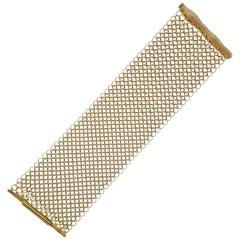 H. Stern Wide Mesh Gold Bracelet