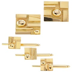 H Stern Yellow Gold Gentlemans Dress Set