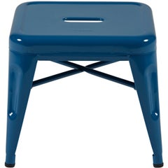H Stool 30 in Essentiel Ocean Blue by Chantal Andriot and Tolix