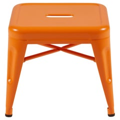H Stool 30 in Essentiel Orange by Chantal Andriot and Tolix