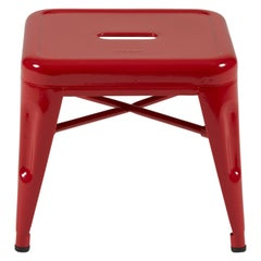 H Stool 30 in Glossy True Red by Chantal Andriot and Tolix