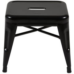 H Stool 30 in Matte Black by Chantal Andriot and Tolix