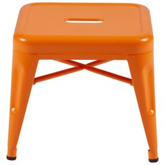 H Stool 30 in Matte Orange by Chantal Andriot and Tolix