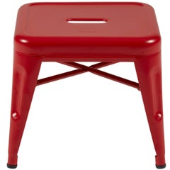 H Stool 30 in Matte True Red by Chantal Andriot and Tolix