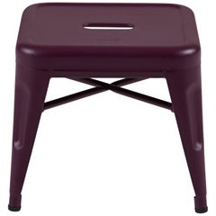 H Stool 30 in Tendance Aubergine by Chantal Andriot and Tolix