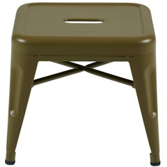 H Stool 30 in Tendance Khaki by Chantal Andriot and Tolix