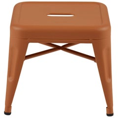 H Stool 30 in Tendance Terracotta by Chantal Andriot and Tolix