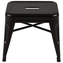 H Stool 30 in Textured Matte Black by Chantal Andriot and Tolix