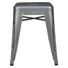 H Stool 45 in Steel with Satin Lacquer by Chantal Andriot and Tolix