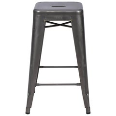 H Stool 65 in Steel with Glossy Lacquer by Chantal Andriot and Tolix